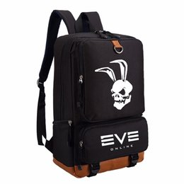 WISHOT EVE Online Backpack travel School Bag Bookbag for teenagers Laptop  Bags 1a0d3304cb
