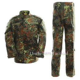$enCountryForm.capitalKeyWord UK - German Camo Army Uniform Camouflage Suit Paintball Clothing Combat Pants + Tactical Shirt