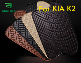Trunk Liner Carpet Australia - Car Styling Car Trunk Mats for Kia K2 Trunk Liner Carpet Floor Mats Tray Cargo Liner Waterproof 4 Colors Opitional