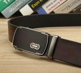 Men S Leather Slides Canada - New Fashion Designer brand Belts for Men Sliding Buckle Ratchet Luxury Leather Mens male Belt ceinture homme