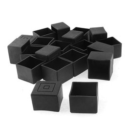 $enCountryForm.capitalKeyWord UK - Square Furniture Table Chair Leg Foot Cover Cap 30mmx30mm 20pcs Black