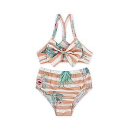 c6a94dc21d Baby Girl Children Summer Swimwear For Baby Girl Kid Bikini Girls Flower  Printed Two Pcs Set Bikini