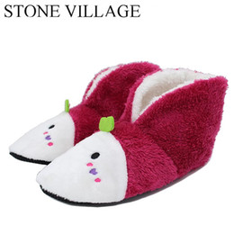 Wholesale 5 Colors Plush Warm Home Slippers Winter Comfortable Indoor Soft Fur Slippers Animal Print Cartoon Cute Women