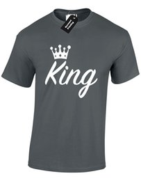 $enCountryForm.capitalKeyWord UK - KING MENS T SHIRT QUEEN PRINCE PRINCESS COUPLE NEWLYWED VALENTINES STAG GIFT