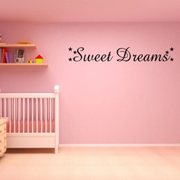 Sweets Wall Stickers Australia - Sweet Dreams Wall Art Sticker Stars Girls Decor Bedroom Warm And Romantic Home Decor Mural