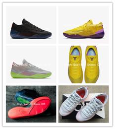 quality design 94496 0755c 2018 neu kommen Kobe A. D. NXT 360 Gelb Streik Mamba Tag Multicolor Mens  Basketball Schuhe Low Weben 12 Wolf Sport Turnschuhe Größe 40-46