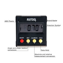 Freeshipping Digital Protractor 4x90 Degree Electronic Box Gauge Level Inclinometer Magnetic Base Measuring Tool on Sale