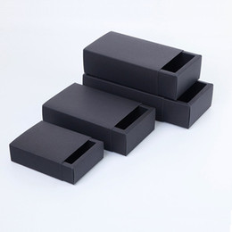 Packaging For Lipstick UK - 20pcs Black Paper Drawer Boxes DIY Handmade Soap Craft Jewel Box for Wedding Party Gift Packaging