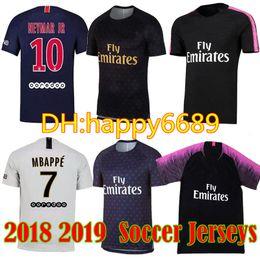 a533549a8 18 19 MBAPPE 7 PSG soccer jersey 2018 2019 Paris CAVANI saint germain DI  MARIA DANI ALVES Maillot De Foot top Thailand white Football Shirts
