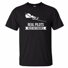 $enCountryForm.capitalKeyWord NZ - Real Pilots Need No Engines Sailplane Or Glider design summer men short sleeve t-shirt print man cotton 3d t shirt K223