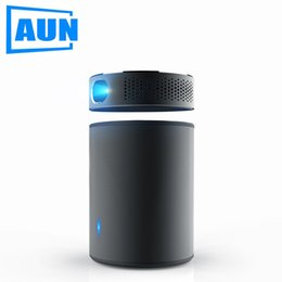 Used Speakers NZ - AUN DLP Portable Projector Q8 Built in Android 5.1 WIFI. 10900mAH Battery Power Bank Mini Projector, Use as Bluetooth Speaker