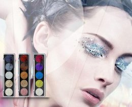 Discount pressed glitter eyeshadow - New IMAGIC Glitters Eyeshadow Cosmetic Pressed Eyeshadow Diamond Rainbow Make Up Pressed Glitters Eye shadow Palette 5 C