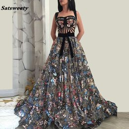 Wholesale New Arrival Formal Celebrity Dresses A line Lace Long Evening Dresses Sexy Sleeveless Red Carpet Dresses Long