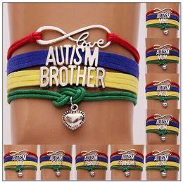love heart friendship bracelet 2019 - Love Autism Jewelry Bracelet Heart Charm Bracelets Wristband Kids Friendship Gifts Mom Dad Aunt Nana Sister Christmas Gi