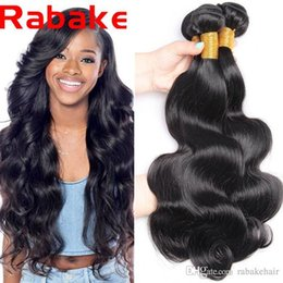 Human Hair Extension Wholesale Factory NZ - 3Pcs lot Rabake 8A Mongolian Body Wave Human Hair 100% Natural Weave Hair Bundles Remy Extensions Factory Outlet Price Free Shipping