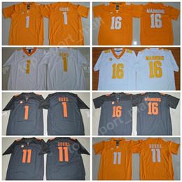 10e5832ecd9 Tennessee Volunteers 16 Peyton Manning Jersey Men Football 1 Jalen Hurd 11  Joshua Dobbs College Jerseys SEC Men Stitched Orange Gray White