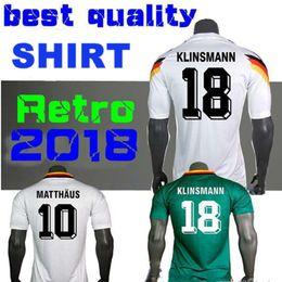 69840c62c ... clearance top quality 1990 1994 1988 germany retro version vintage  classic soccer jersey klinsmann 18 matthias
