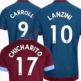 Top Thailand CHICHARITO west ham united soccer jerseys 2018 2019 ARNAUTOVIC WILSHERE  football kit shirt 18 19 Antonio Lanzini Camiseta west ham kits on sale cd202cd8b
