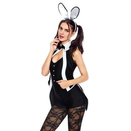 bunny costumes for halloween 2018 women stage role play halloween sexy bunny costume five piece