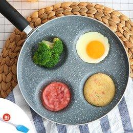 24 Cm Prima colazione Padella Non-Stick 4 in 1 padelle per padella No olio-fumo No Stain Fornello a gas per uova fritte e pancetta in Offerta
