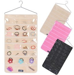 Hanging Necklace Display NZ - Necklace Bracelet Organizer Pouch Display Bag Holder Double Sided Non Woven Jewelry Display Storage Hang Bag GGA786 15pcs