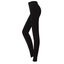 04e956e9a LBFS Fashion Woman New Brushed Stretch Fleece Lined Thick Leggings Winter  Pants Warm Leggings Black Grey 86 cm