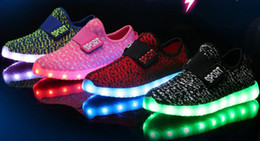 Round fluoRescent lights online shopping - 2017 kids LED Shoes light colorful Flashing Shoes with USB Charge Unisex Fluorescent light up Shoe Party and Sport Casual Shoes for children