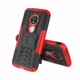 Lg Tribute Hd Cases NZ - KickStand Armor Case For LG X POWER 2 X max X5 X style Tribute hd Moto E5 Play Hybrid Case TPU PC Hard Camo Tire Tyre Shockproof Cover