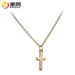 top indian girls NZ - Top quality Cross Pendant Necklace for Women Girl Kids,Mini Charm Pendant Gold Color Jewelry Crucifix Christian Ornaments