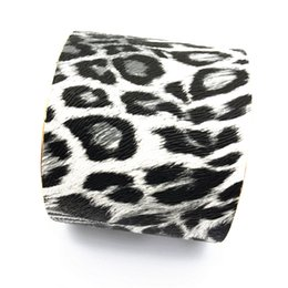 mouth bracelet NZ - 2018 New Imitation leather Cuff Leopard print Bracelets Wide mouth fashion South American style bangle for women Jewelry factory wholesale