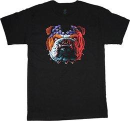 Tall Tee Men Canada - big and tall t-shirt biker bulldog graphic tee shirt tall shirts for men