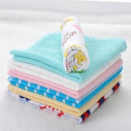 $enCountryForm.capitalKeyWord UK - 8pcs lot Small Square Soft Cute Baby Towel Handkerchief for Children Infant Kids Baby Feeding Towel Bathing Hand Face Washing