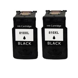 2PK cartouche d'encre noire PG-810XL PG810 810 remplacement pour Canon PIXMA MP287 MP486 MP496 MP497 MX328 MX338 MX347 IP2770 IP2772