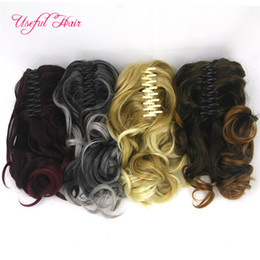 $enCountryForm.capitalKeyWord NZ - Cheap Valentines beauty Ponytail claw clip hair extension Short Ponytails Curly Synthetic Pony Tail Hairpiece Claw Ponytail for black women