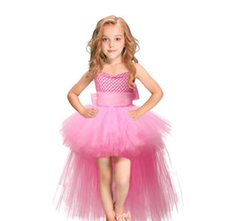 Gauze balls online shopping - Baby girl Tutu dress long net gauze Princess ballgown for children kids halloween christmas prom party dress suspender dance skirts