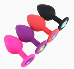 $enCountryForm.capitalKeyWord NZ - Silicone Mini Anal Sex Toys For Women Men Erotic Butt Plugs Crystal Jewelry Adult Booty Beads Anus Products
