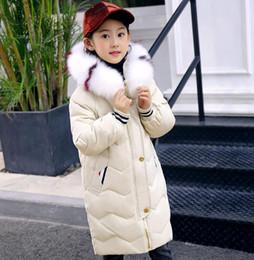 المبيعات المباشرة 2018 الأطفال الجديد بانخفاض سترة الفتيات طويلة بطة بيضاء أسفل سترة الأطفال