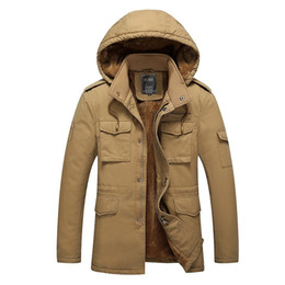 Wholesale army clothes online shopping - mens designer jackets Men jacket coat Parka Men Clothing Zipper Cotton Padded Hooded Thick Quilted Jackets Coat Mens Hoodies plus size XL