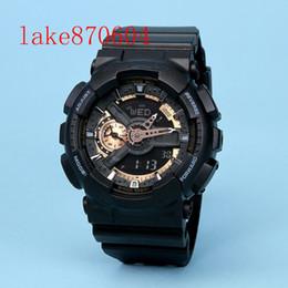 d8e584570d3 Dual Display Relógio Homens G Estilo À Prova D  Água LEVOU Esportes  Militares Relógios Homens