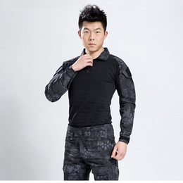 $enCountryForm.capitalKeyWord UK - Kryptek Black Uniform Men Gen 3 Tactical Training Frog Uniform Clothing Jacket Pants with Knee Elbow Pads