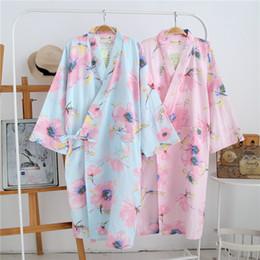 d3808ecac2 Discount male kimono robe - Japanese Kimono Yukata Robes Pajamas Sets  Cotton Bathrobe Pyjamas Japan Loose