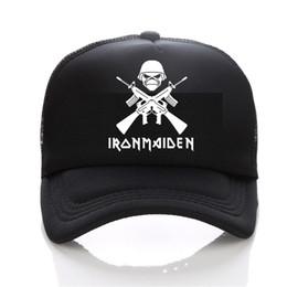 2017New Iron Maiden Metal band Rock music cap men Casual Brand Summer  baseball caps women cap trucker Hip Hop Hat 6dc860b26a86