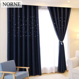 $enCountryForm.capitalKeyWord NZ - Laser Cutting Stars Navy Blackout Curtain Thermal Insulated Out Star Window Treatment for Kids and Nursery Rooms Decoration