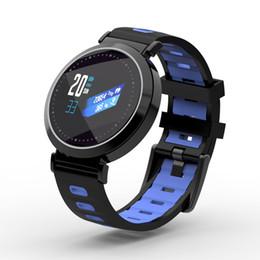 Discount new bluetooth wrist smart bracelet watch - New Color Screen Smart Band Fitness Watch Pedometer Bluetooth Smart Wristband Heart Rate Blood Pressure Monitor Waterpro