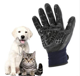 $enCountryForm.capitalKeyWord UK - Pet Grooming Gloves Dog Cat Hair Cleaning Brush Comb Black Rubber Five Fingers Deshedding Pet Gloves For Dog Cats Animals
