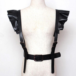 $enCountryForm.capitalKeyWord Australia - 2018 New Fashion Personality Shoulder Suspenders sexy Belt Faux Leather Body Bondage Corset female Harness Waist Straps Belt
