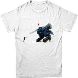 6e50cda3 Metal Gear Solid T-Shirt Snake Vs The Robot T-Shirt Inspired Design Top Hot  Selling 100 % Cotton Tee Shirts