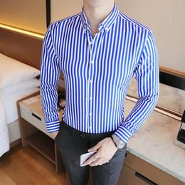 Shirt Korean Designs Australia - 2018 New Fashion Brand Camisa Masculina Long Sleeve Shirt Men Korean Slim Design Formal Casual Male Dress Shirt Size M-5XL