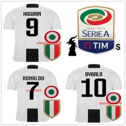 7edf99448 2019 Juventus Soccer Jersey With patch 18 19 Juve RONALDO DYBALA Soccer  Shirts MARCHISIO MANDZUKIC PJANIC HIGUAIN Football uniform Sales
