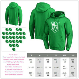 c45c38d2077 Men's 2018 Vegas Golden Knights St. Patrick's Day Fanatics Branded White  Logo Ice Hockey Sports Pullover Hoodie - Kelly Green, S-4XL